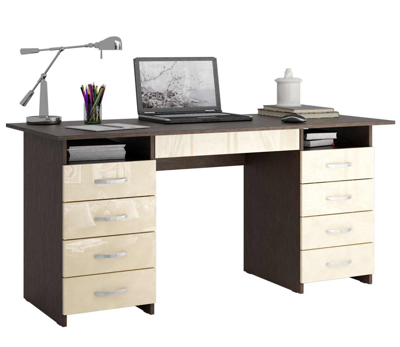 Письменный стол Милан-10Я глянец - венге в интернете недорого