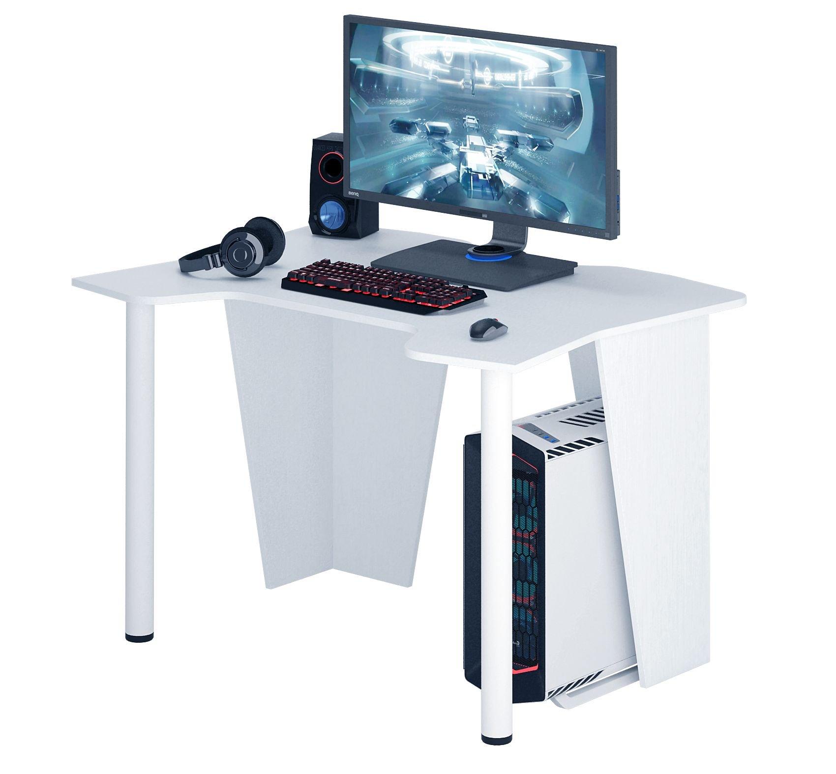 Игровой компьютерный стол Страйкер-2 белый от производителя Мастер